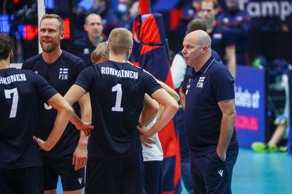 Suomen lentopallomaajoukkueen ote pelistä mureni pala palalta