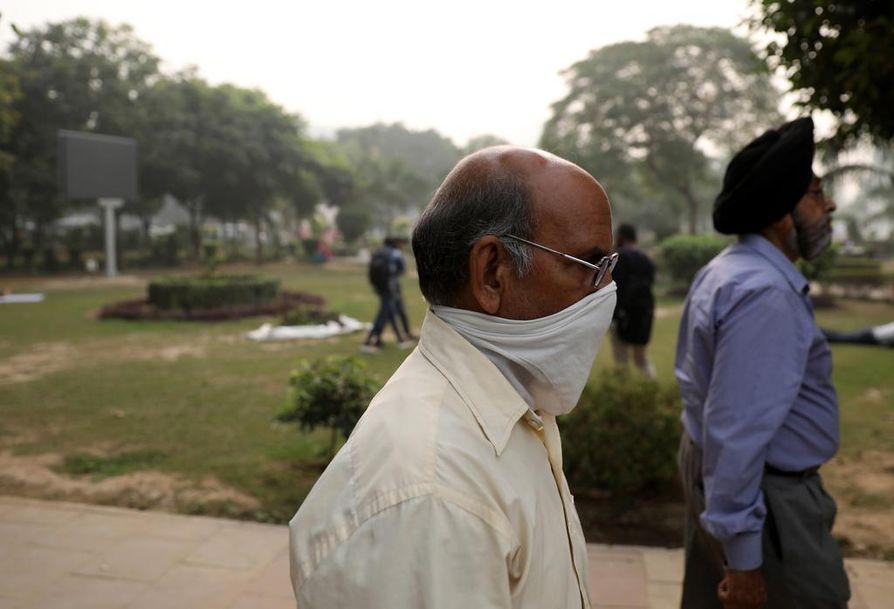 Intian pääkaupungissa ilmanlaatu on huonoimmillaan koko vuonna.