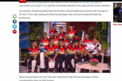 Kesällä luolastosta pelastetut thaimaalaiset pojat pääsivät tapaamaan Zlatan Ibrahimovicin Los Angelesissa