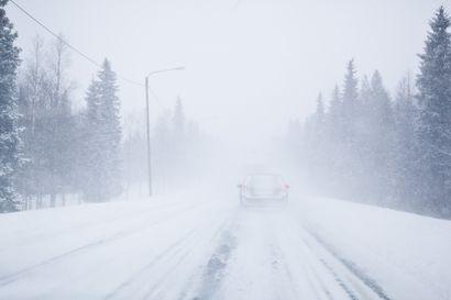 Kehnoa ajokeliä luvassa useita päiviä – Lapissa keliä huonontaa lumen lisäksi kova tuuli