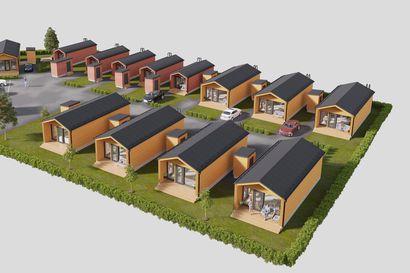 Kempeleen Metsärinteelle rakentuu moderni minimökkikylä – 13 pikkuruiseen erillistaloon kuuluu oma piha, terassi ja ulkovarasto