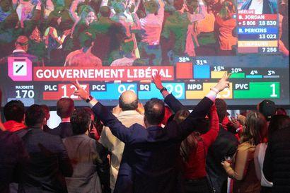 Pääministeri Trudeaun Liberaalit voitti niukasti Kanadan vaalit – Kanadan arvioidaan menevän poliittisesti vasemmalle
