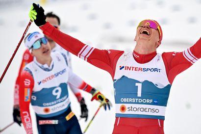 """Bolshunov sai ensimmäisen mestaruutensa norjalaisten puristuksessa – Niskanen taipui vapaalla 13:nneksi: """"Tänään ei jäänyt mitään isommin käteen"""""""