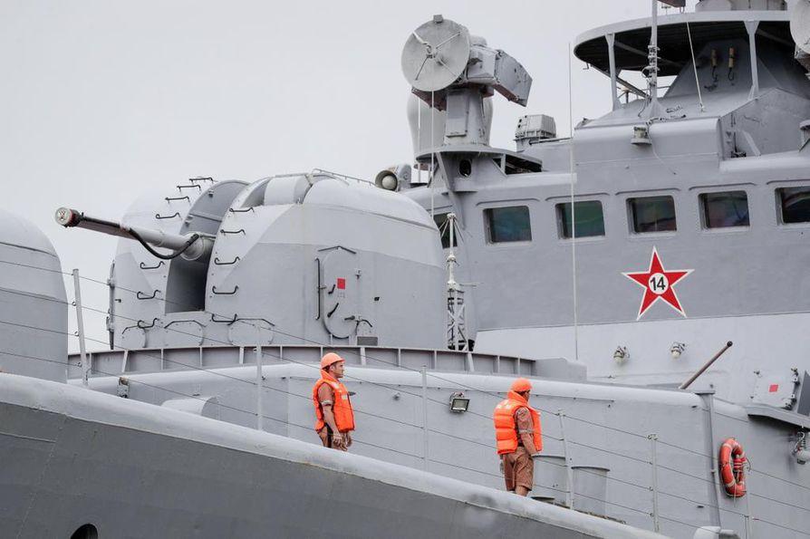 Venäjän laivaston Admiral Vinogradov -alus kuvattuna kesäkuun alussa Manilassa.