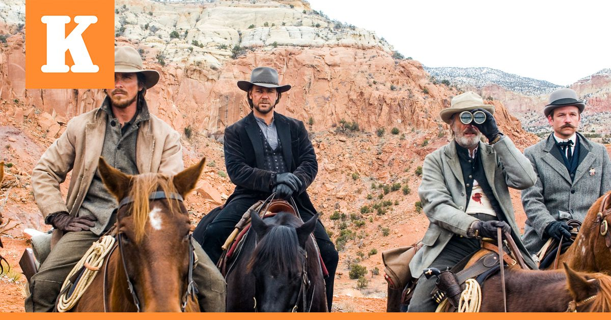Christian Bale ja Russell Crowe ratsastavat yhdessä...