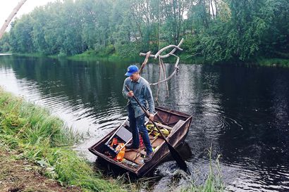 """Ranskalaisen lohikäärmeen silmäripset värisevät Ivalossa veden äärellä – taiteilija César Ropponen-Brunel palasi juurilleen ja haluaisi jäädä: """"Kyllä Lappi taamoi minut"""""""