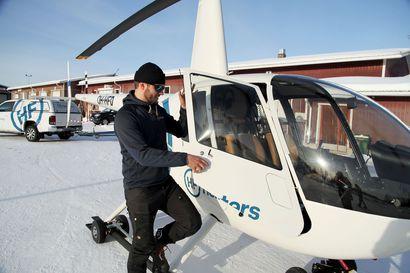 Iäkäs pariskunta pääsi vielä kerran Sokostille – Ivalossa helikopteritaksi vie vaikka keskelle erämaata