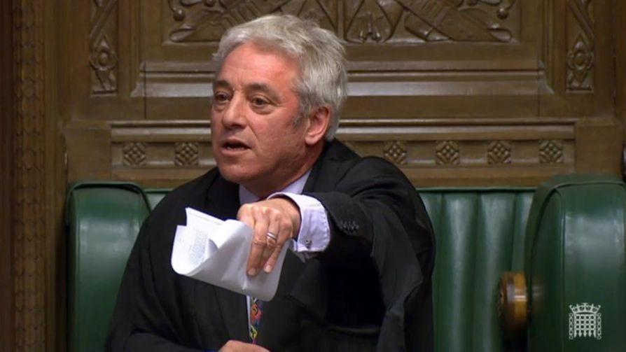 Britannian parlamentin puhemies John Bercow ei hyväksynyt Johnsonin pyyntöä uudesta äänestyksestä.