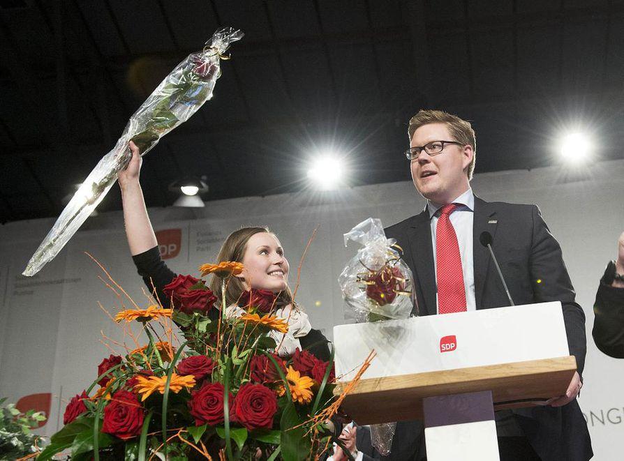 Toukokuussa 2014 molemmat olivat sankareita. Sanna Marin ja Antti Lindtman valittiin silloin sdp:n varapuheenjohtajiksi Seinäjoella. Sunnuntaina vain toinen heistä voittaa.