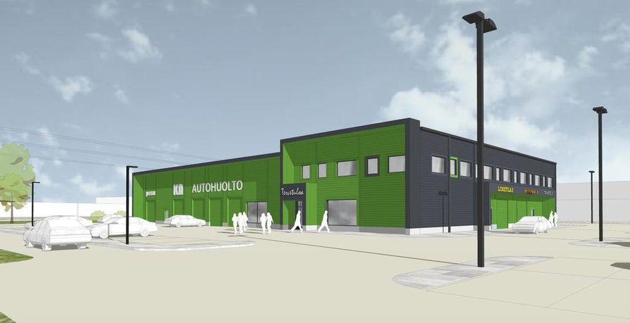Uusi liikekeskus tulee Limingantullin Prisman eteläpuolelle.