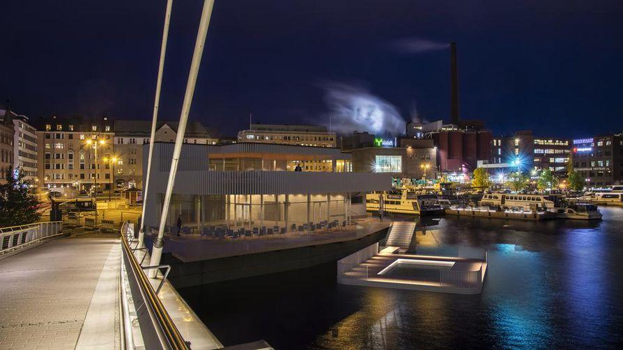 Tampereelle tuleva saunaravintola Kuuma avataan Laukontorille.