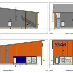 SSAB:n tehtaan uusi portti valvomoineen tehdään teräksestä