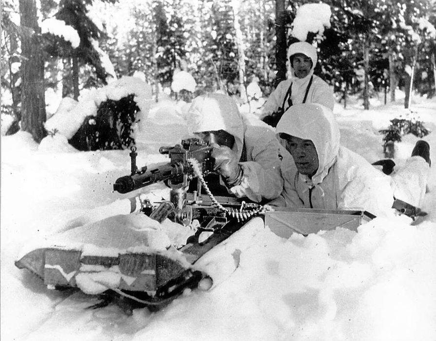 Talvisotaa käytiin ankarissa olosuhteissa.