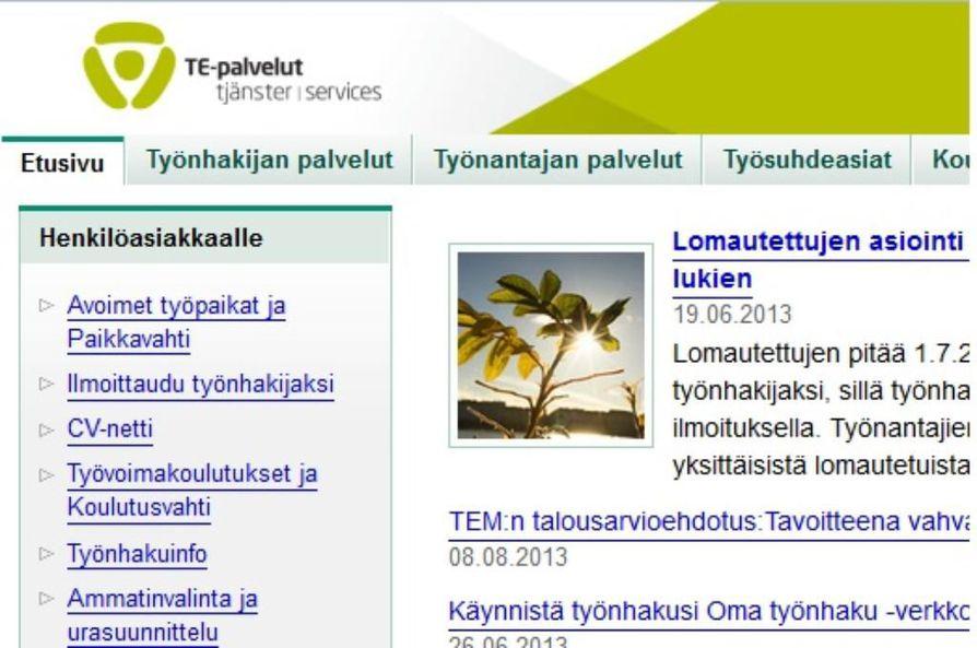Mol.fi-sivusto on työ- ja elinkeinoministeriön ylläpitämä