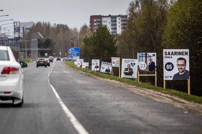 """Monen Oulun seudun kuntavaaliehdokkaan mainoksissa ei mainita puoluetta lainkaan, mutta pitäisikö sen näkyä? – """"Se on varmaan ihan mietittyä"""""""