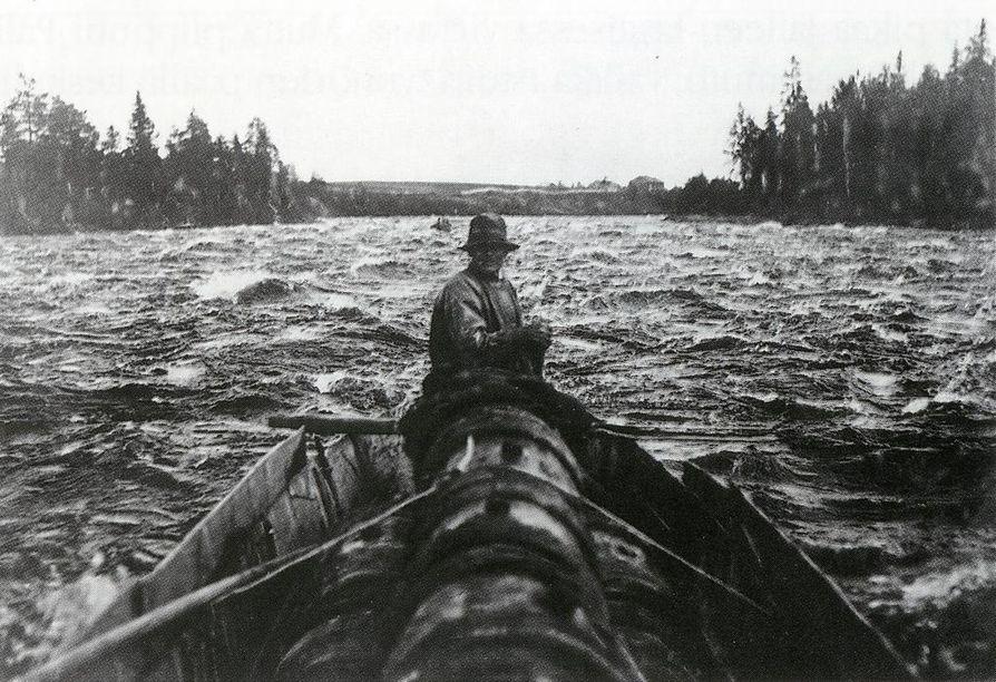 Tervavene Pällissä. Kuva kirjasta I. K. Inha: Suomen maisemia.