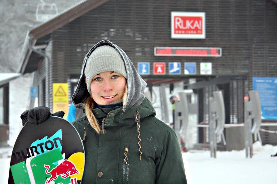 Kuusamolainen Enni Rukajärvi voitti toisen hopeamitalin WST-kiertueella. Arkistokuva.