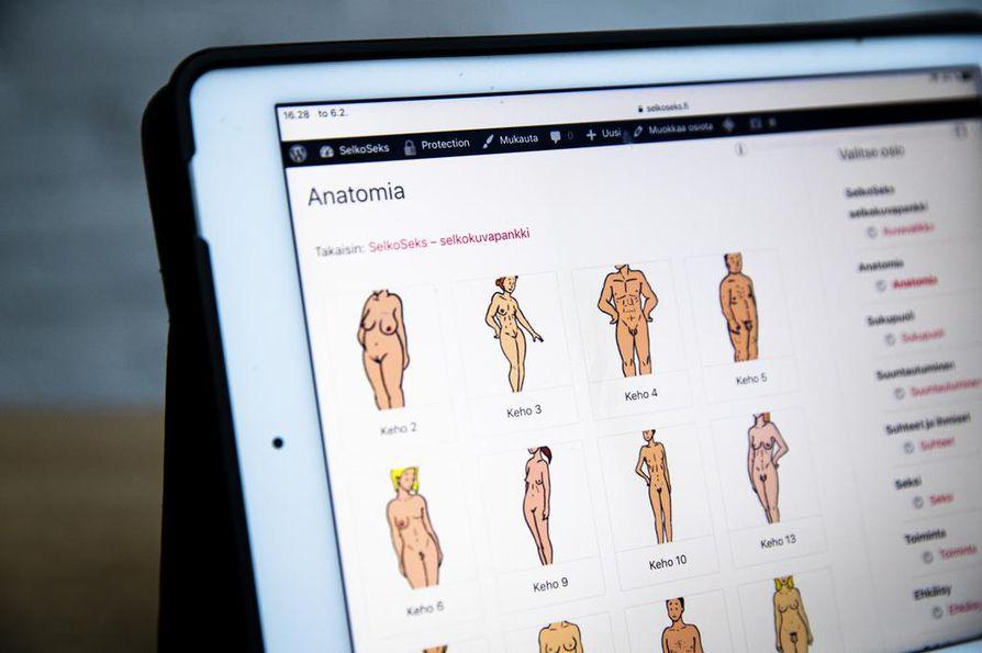 Erilaisten vartalokuvien avulla SelkoSeks-kuvapankin tekijät haluavat välittää tietoa siitä, että ihminen voi olla monella tapaa.