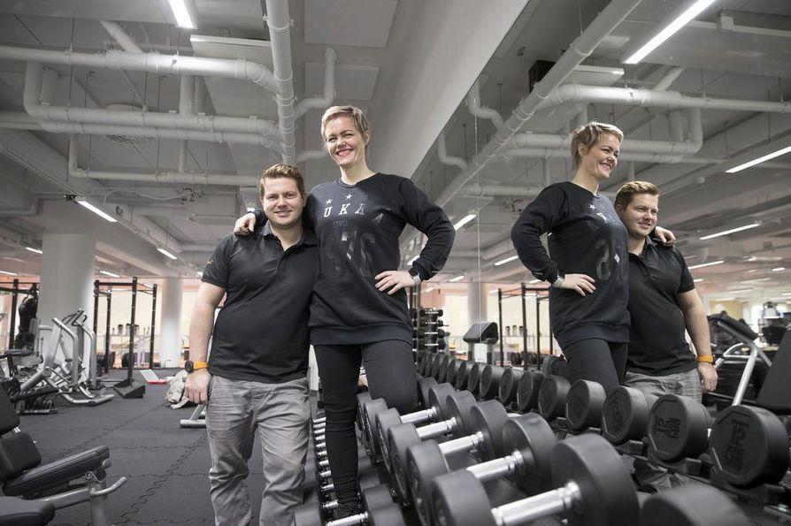 Keskusvastaava Jussi Rounaja ja Hukan toimitusjohtaja-yrittäjä Anna Rounaja uskovat, että sali pystyy houkuttelemaan asiakkaita kovasta kilpailusta huolimatta.