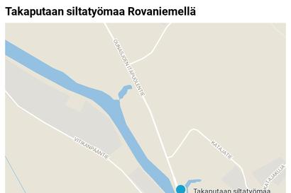 """Ounasjoen itäpuolentielle asennettiin maanantain vastaisena yönä kaksi uutta siltarumpua: """"Toistaiseksi ne riittävät, järeämpiinkin toimiin valmis"""""""
