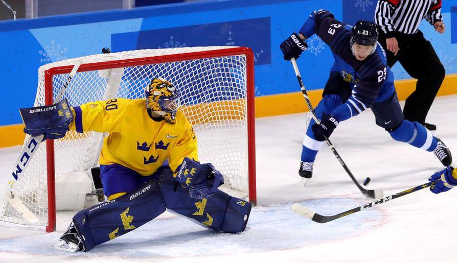 Joonas Kemppainen merkittiin Suomen ainoan maalin tekijäksi.