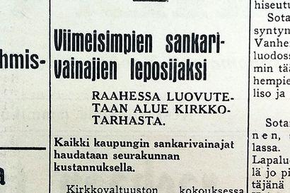 Vuosien takaa: sankarivainajille luovutettiin lepopaikka 1940 ja keskustaa purettiin Säästöpankin tieltä 1970