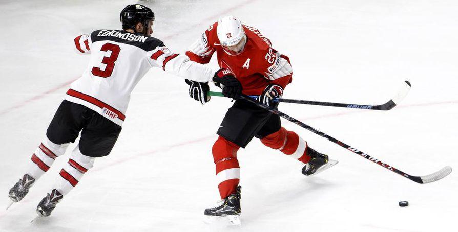 Sveitsi ja Kanada pelaavat loppuottelupaikasta.