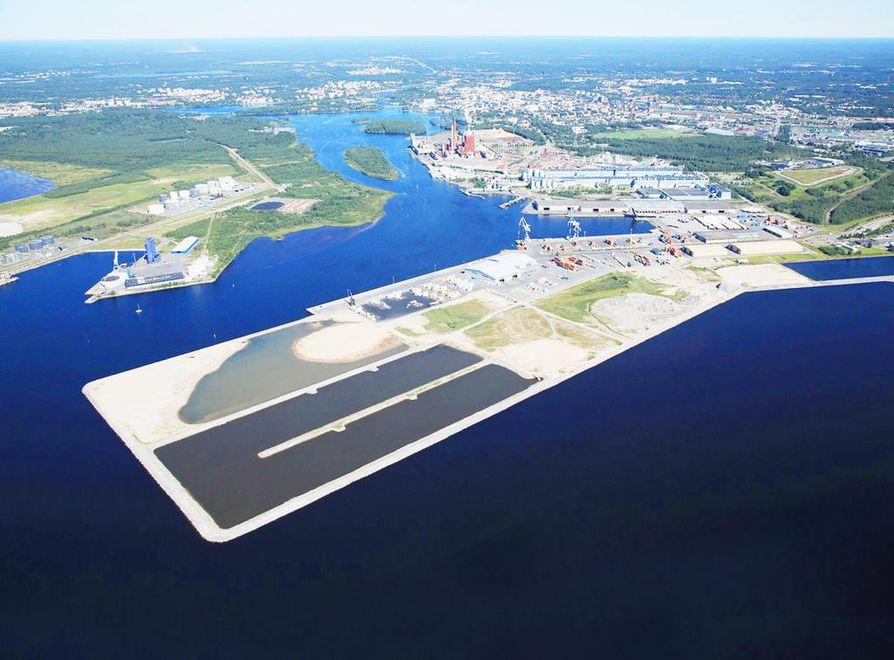 Oulun sataman syväys mahdollistaa entistä suurempien laivojen pääsyn satamaan.