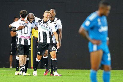 Udinese näpäytti lähellä mestaruutta olevaa Juventusta Serie A:ssa