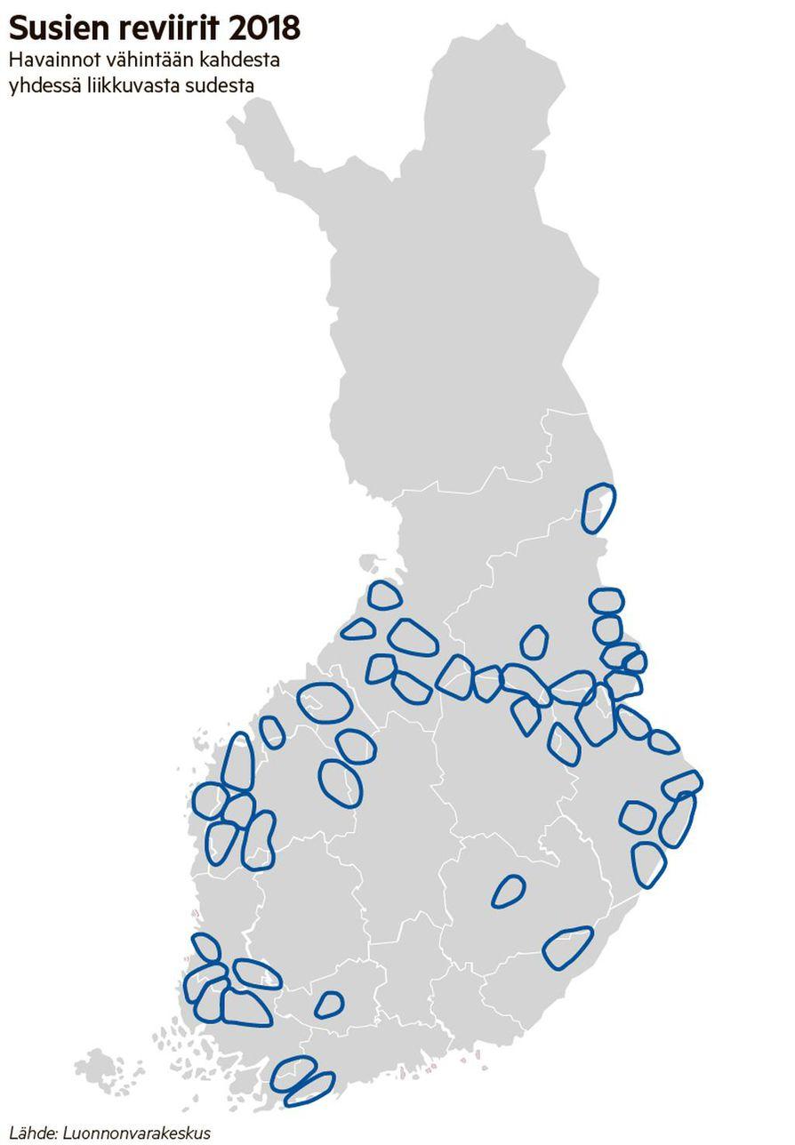 Suomen Susista 70 Prosenttia Elaa Jo Lantisessa Suomessa