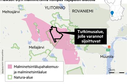 Mawson lähtee viemään eteenpäin Rajapalojen kaivoshanketta Rovaniemen ja Ylitornion rajalla