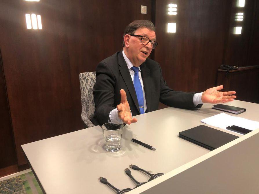 Tähtiliikkeen puheenjohtaja Paavo Väyrynen kertoi eduskuntavaalien suunnitelmistaan keskiviikkona Helsingissä.