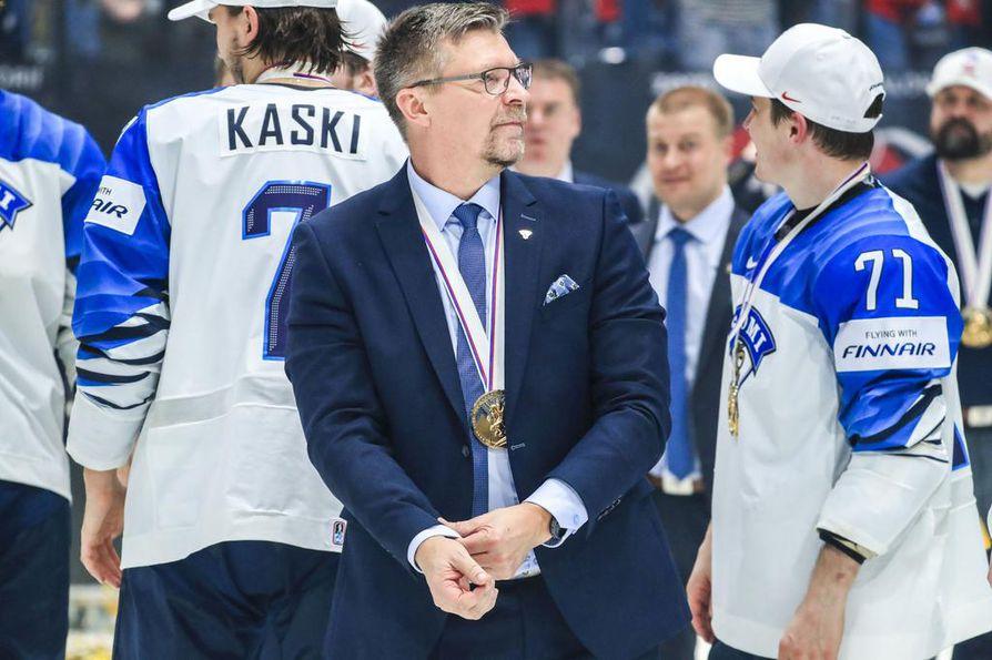 Jukka Jalonen johti jääkiekkomiehet maailmanmestaruuteen toukokuussa Slovakiassa.