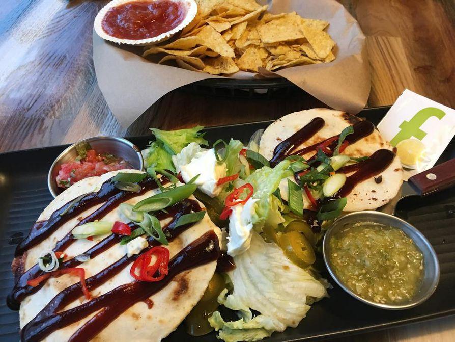 Amarillon lounaslistalla on meksikolaista ruokaa.