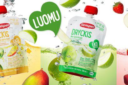 Semperin uutuustuote Dryckis on uudella tavalla pakattu lasten luomuhedelmäjuoma