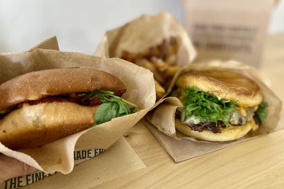 Syömässä: Friends&Brgrsin laatuburgerit on pakattu ekologisesti