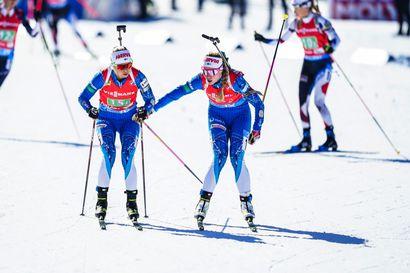 Suomen naisten viestinelikko 14. MM-ampumahiihdossa