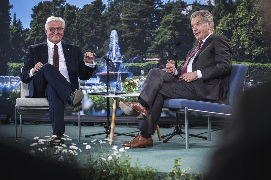 Tasavallan presidentti Sauli Niinistö ja Saksan liittopresidentti Frank-Walter Steinmeier sanovat uskovansa Euroopan tulevaisuuteen.