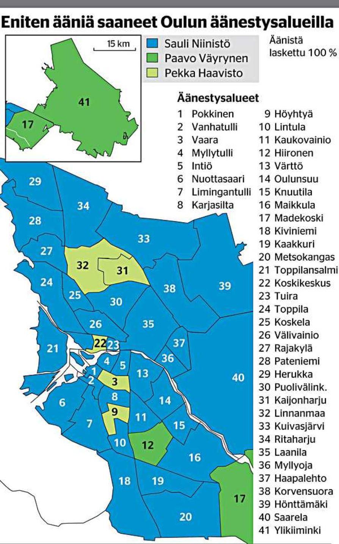 Niinisto Valloitti Oulun Kartan Presidentinvaalit 2012 Kaleva Fi