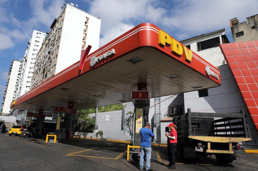 Venezuelan valtiollisen öljy- ja kaasuyhtiö PDVSA:n kaasunjakeluasemalla Caracasissa ei ollut kiireitä tammikuun lopussa.