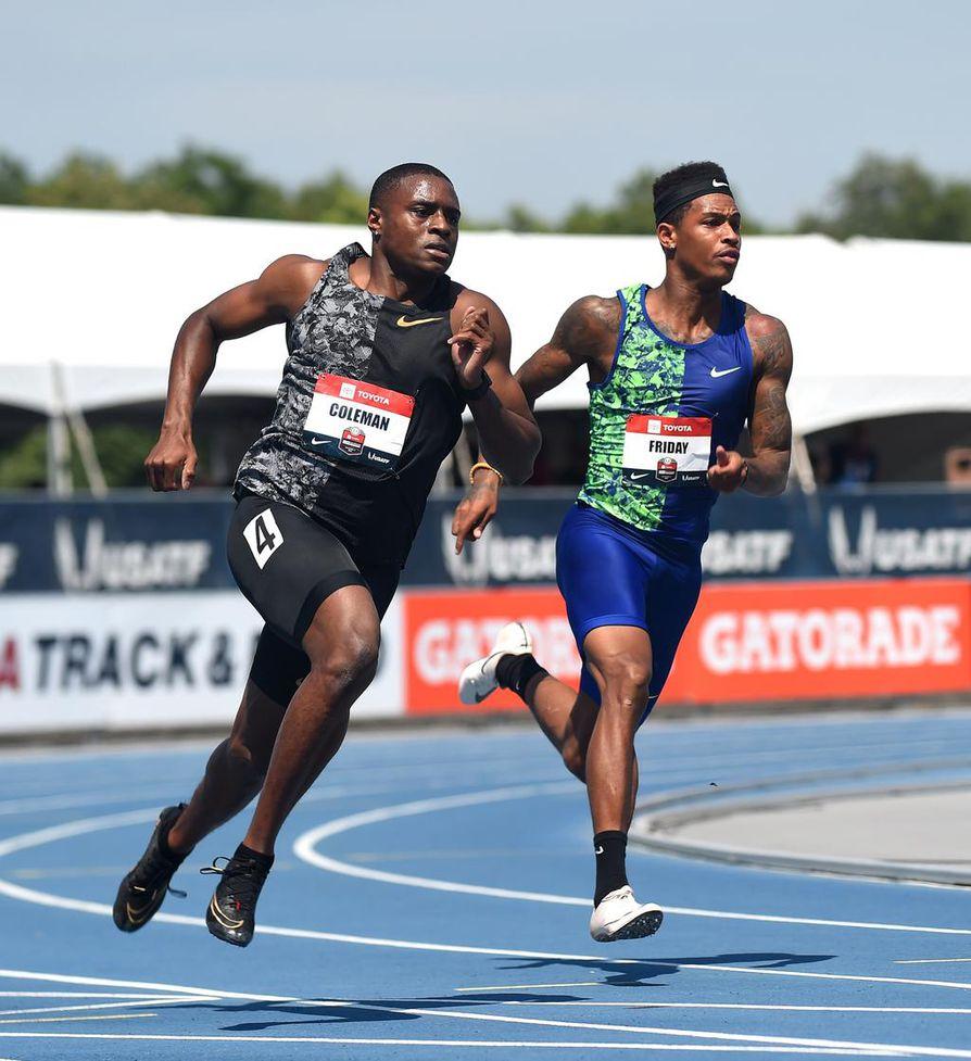 Christian Colemania (vasemmalla) epäillään dopingrikkeestä.