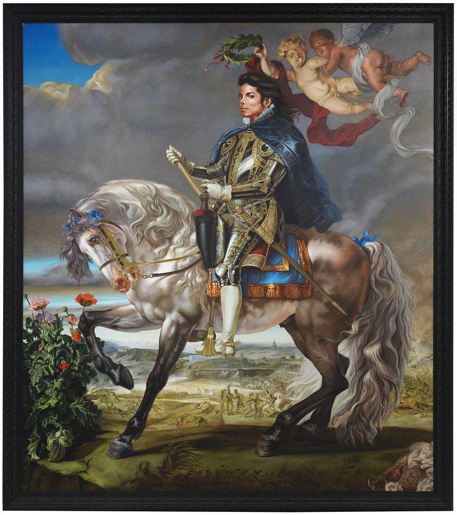 Kehinde Wileyn öljymaalaus Equestrian Portrait of King Philip II (Michael Jackson) on vuodelta 2010.