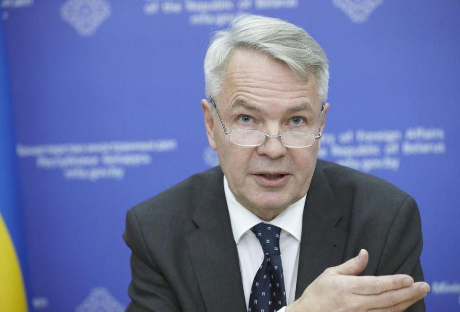 Ulkoministeri Pekka Haavisto (vihr.).
