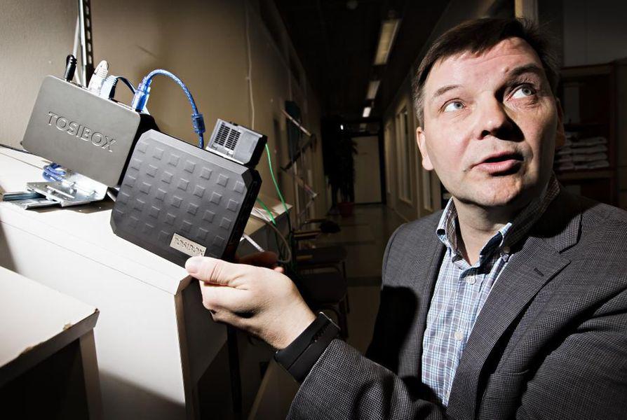 Tosiboxin toimitusjohtaja Tero Lepistö yllättyi, kun yritys voitti kilpailun molemmat kategoriat. Arkistokuva.