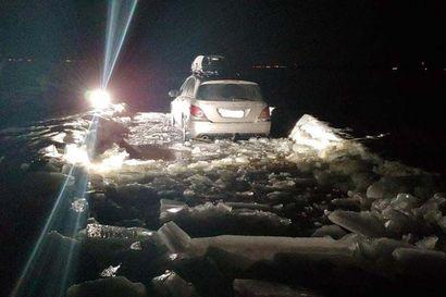 """Kaksi autoilijaa tuhosi toiveet Kempeleenlahden hyvästä luistelubaanasta: """"Harmittaa, kun olemme tehneet paljon töitä sen eteen, että hiihtolomaviikolla reitti olisi ollut kunnossa"""""""
