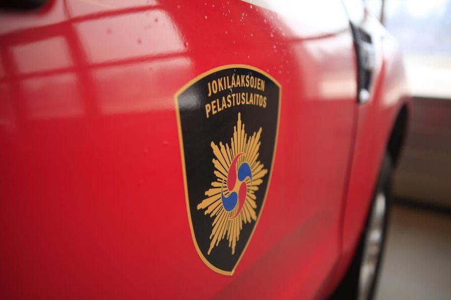 Jokilaaksojen pelastuslaitos sai hälytyksen noin kello 9.45.