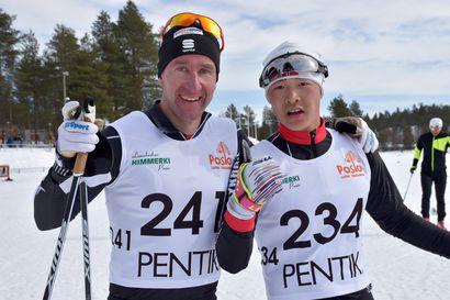 Kiinalaiset hiihtäjät hakivatvauhtia olympialaisiinPosiolta - Idström ja Similä voittajia Pentik-hiihdoissa