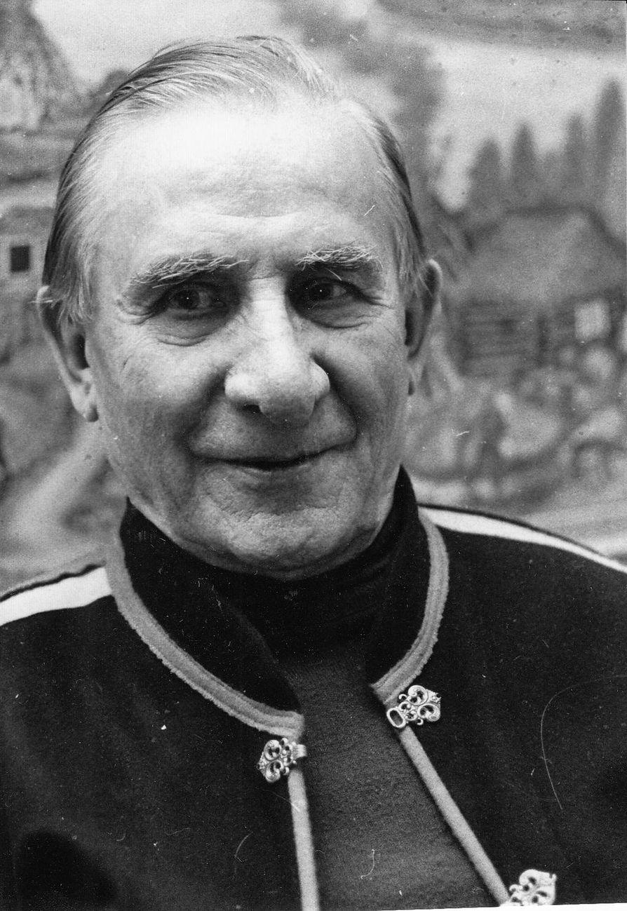 Andreas Alariesto 80-vuotiaana.