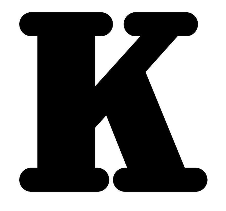 Tabloid-kokoisessa Kalevassa juttujen loppuun laitetaan K-kirjain.