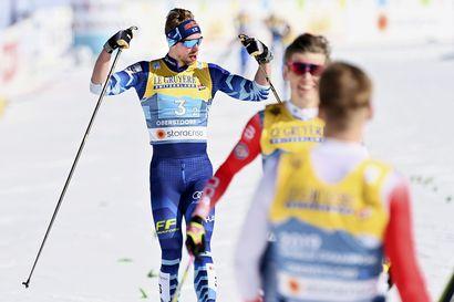MM-hopealle yltäneiden Ristomatti Hakolan ja Joni Mäen tapahtumarikas päivä oli päättyä jo alkueriin